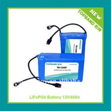 Hot Sale 40Ah lifepo4 12v battery pack for Golf Cart with PCM Factory Price