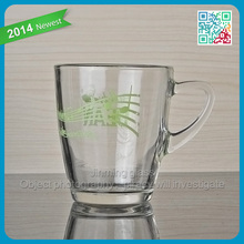 Ear Shaped Glassware Handle Drinking Coffee Cups Cappuccino Latte Mugs