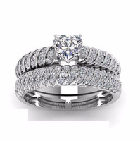 Classic 2015 women fashion sample wedding ring designs clear cubic zirconia women rings