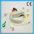 Holter mortara 10 alambres de plomo conjunto, broche de presión
