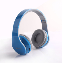 Colorful abs leather headband Headset bluetooth foldable earphone with music stereo for iphone for ipad for tablet