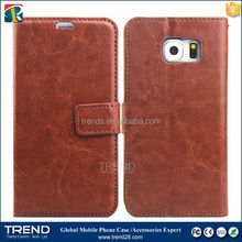 ebay europe all product folio flip corrected grain leather culelar cover for samsung galaxy s6