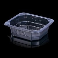 black elegant disposable food container, keep food hot container