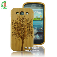 wood case for samsung galaxy s3 high quality engraved