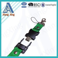 Customized capacity 2GB/4GB/8GB/16G/24G usb lanyard neck strap usb flash drive