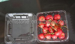 Fresh fruit clamshell packaging box for cherry with clear lid