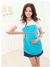 Elegante moda de boa qualidade blusas para grávida