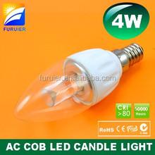 ceramic+Glass SAA Samsung led bulb dimmable 5000K 6000k 4w led candle light