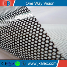 1.45mm Hole Size One Way Vision For Glass Decoration, Printale One Way Vision In Rolls, Self Adhesive PVC One Way Vision Vinyl