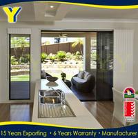 Interior good soundproof aluminum frame double glazed Sliding Door Design In Kitchen