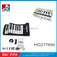 2015Hot!61 keys portable MIDI flexible roll up piano keyboard,children toy piano HC277894