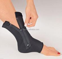 Ankle Zip Up Compression Neoprene Adjustable Ankle Elastic Brace Support