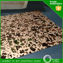 wholesale high quality colored mirror etching stainless steel sheet
