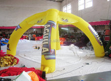 2015 yellow inflatable rainbow arch for advertising