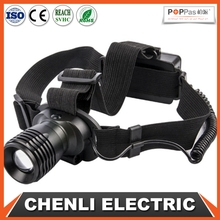 POPPAS T55 xpe 3W 3 AAA battery operated zoom adjustable led head lamp