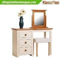 White Wooden Home Furniture, Dress Table with Mirror