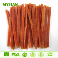 Dried Salmon Jerky Strip Bulk Wholesale Dry Pets and Dogs Food Dog Training Treats Dog Snacks OEM and Private Label
