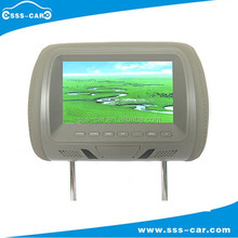 7'' color TFT LCD screen removable universal car headrest pillow monitor