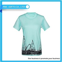 High quality colour changing t shirts OEM custom print fashion t shirt for women
