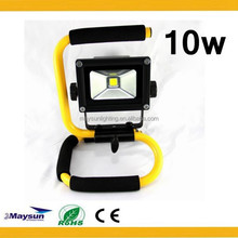 10w 20w 30w Portable Battery Powered Dimmable Rechargeable Outdoor Emergency LED Flood Light