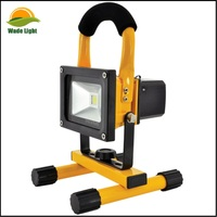 Portable Outdoor 10w LED Rechargeable Work Garage Flood Light Lamp Torch Li-On