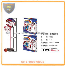 Cheap children basketball stands with hoop and safety certificate