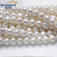 10-11mm near round can make large holes freshwater cultured loose pearl strand