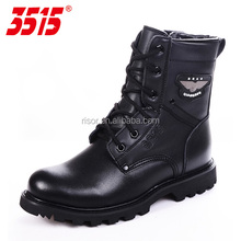 Black Cold Resistance Wool Lined Leather Winter Boots Man