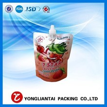 Stand-up Spout Pouch/Bag for Milks or Fruits, Made of PET/PE/AL, Used in Shopping