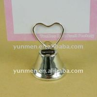PH022- Heart Top Bell Place Card Photo&Memo holder stand