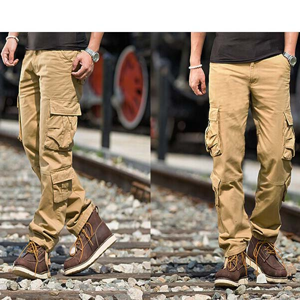 Cargo Pants For Men With Lots of Pockets Men Khaki Cargo Pants With