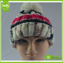 Twist flower design warm winter hat