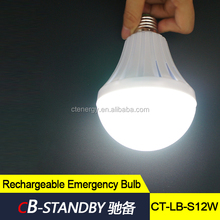 High quality emergency led lighting lamp rechargeable bulb 12W E27