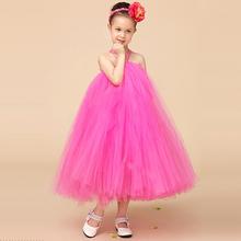 2015 Rose Red Puffy Kids tutu Dress for Girls