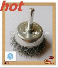 cup brush with shank crimped wire