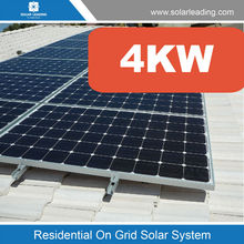 4kw Jamaica solar electricity generating system for home with 4kw solar grid tie inverter and required solar products