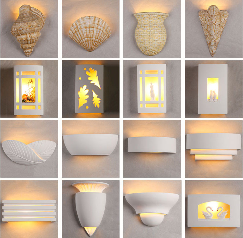 pin modern gypsum wall decoration and shelves for living roo