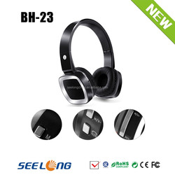 Fashionable Design Headset Bluetooth With Bluetooth V3.0+ TF + Aux In + FM For Mobile Phone
