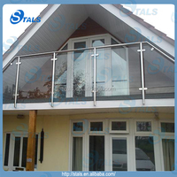 factory tempered glass railing balcony stainless steel railing design