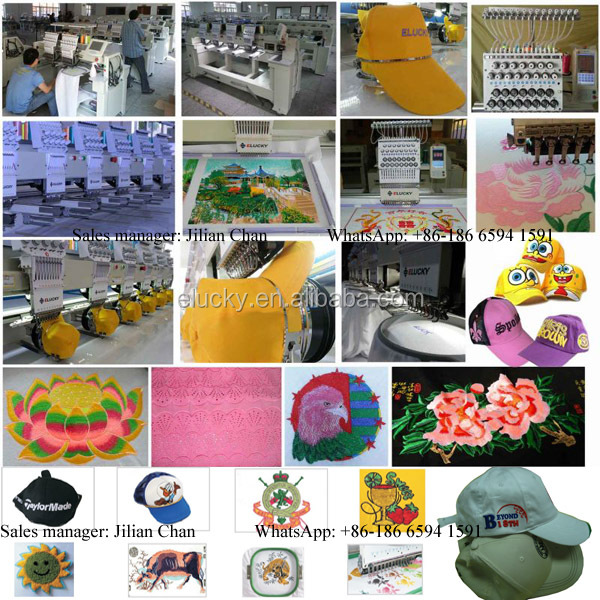 15 needle computer embroidery machine price for flat cap t-shirt embroidery