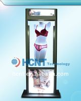 New Invention ! magnetic levitation led display rack for underwear, sexy girl photo without bra