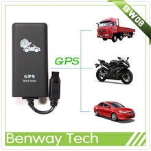 Mini car gps tracker with detecting vehicle battery function