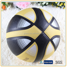 Double color printed indoor rubber basketball ball