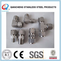 compression fittings forged stainless steel tee pipe fittings