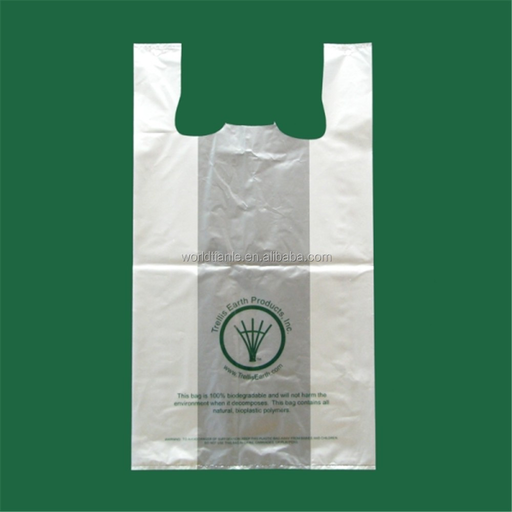 Supermarket Hdpe Plastic T Shirt Packaging Bag With Cheap
