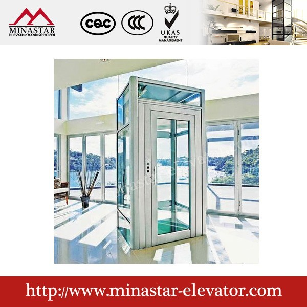 Small residential home energy saving elevator indoor home for Indoor elevator