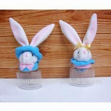 Holiday Easter Bunny Plastic Candy jar Decoration