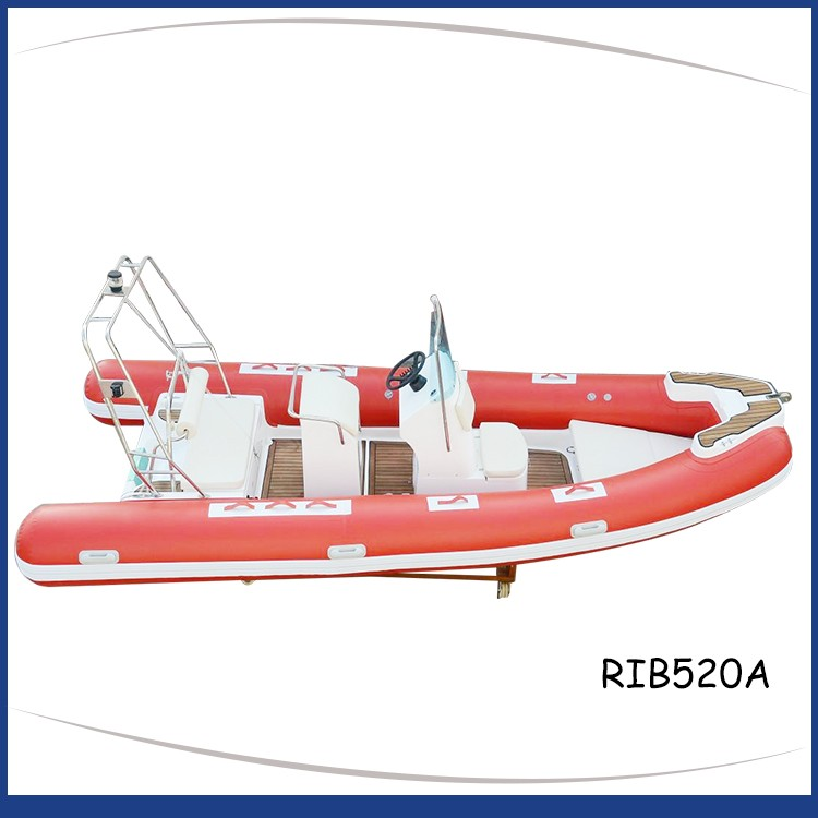 Red_rigid_inflatable_boat_ss_roll_bar_teak-floor_RIB520A-3