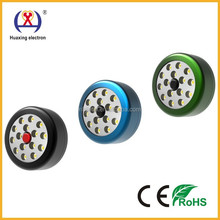 2015 Hoot Round portable HX-015 15 SMD LED Work Light with Magnet and hook