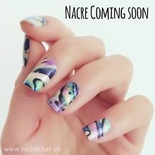 OEM custom shimmery pearlescent nail wraps shell nail art sticker eco-friendly ThumbsUp nail polish strips manufacturer